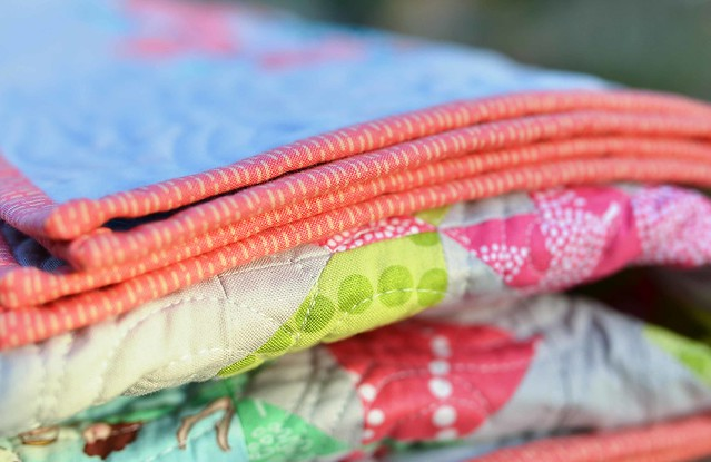 mini swoon quilt binding