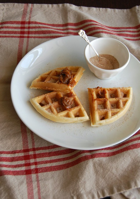 Churros waffles / Waffles de churros
