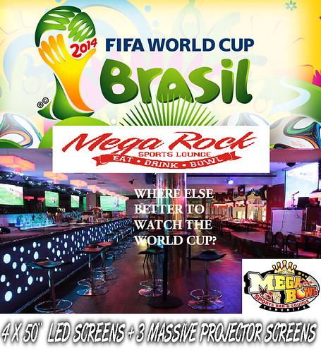 World Cup coverage, Mega Rock cafe, Costa Adeje