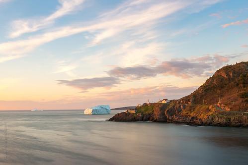ocean morning sea lighthouse canada ice rock stone sunrise newfoundland spring nikon harbour hill stjohns wave iceberg signalhill atlanticcanada fortamherst capespear d600 newfoundlandandlabrador nikond600