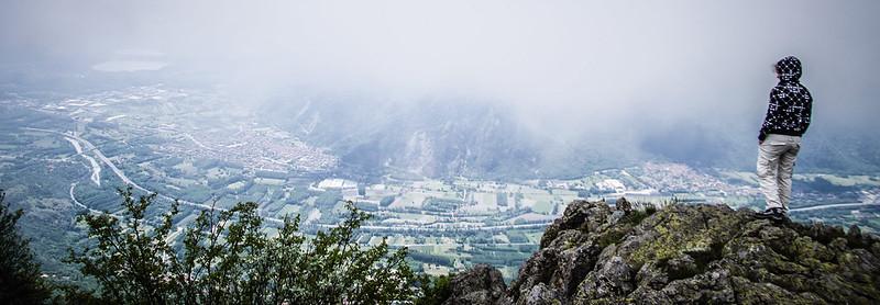 Nuvole sopra la Val di Susa da Rocca Sella
