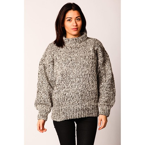 Womens blended wool sweater
