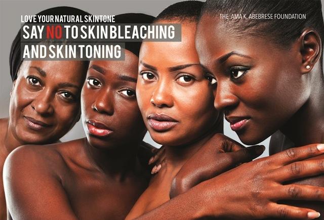 Ama K. Abebrese's Anti-Bleaching campaign
