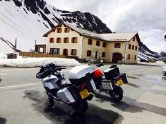 Bikes on Fluelapass, Switzerland