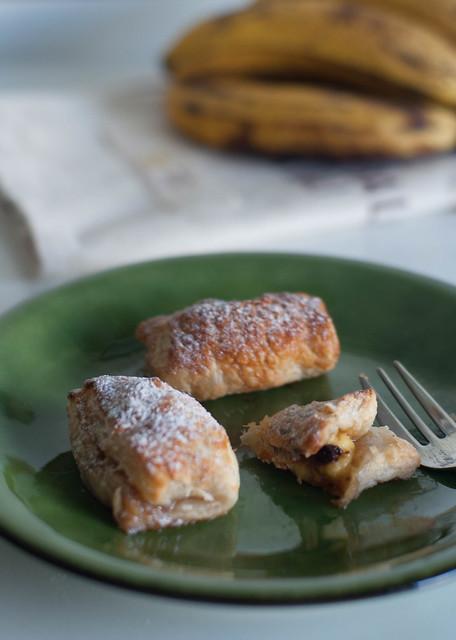pastelitos de plátano y chocolat