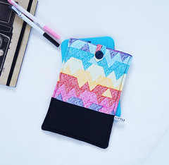 "Modern Colourful Geometric 7"" Tablet Sleeve by little minx - available at http://felt.co.nz/shop/littleminx"