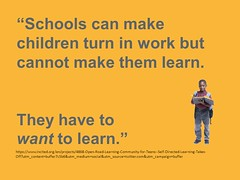 "Educational Postcard:  ""#9 - We can't make them learn."""