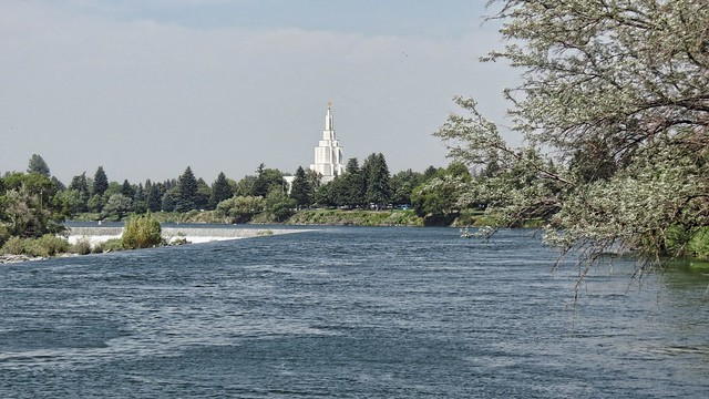 Idaho Falls Temple on River