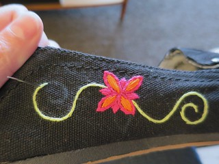 Iron Craft '14 - Challenge #15 - Embroidered Shoes