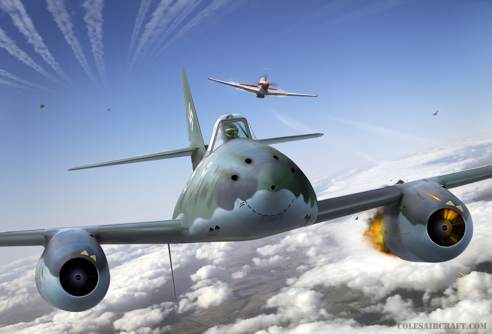 рисунок Me 262 'Yellow 5'
