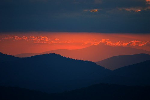 sunset sky mountains clouds nikon carolina layers blueridgeparkway brp d3200 ncmountainman phixe