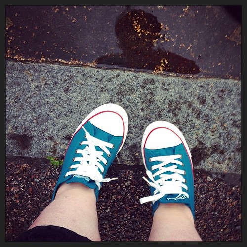 #project365 Finally, a #rain! And I love my new #sneakers. <3 #newshoes #dockersbygerli #colourlove