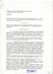 123. Dr. Habsburg Ottó ügyvédje útján benyújtott állampolgársági igazolási kérelme a Belügyminisztérium Állampolgársági Alosztályához