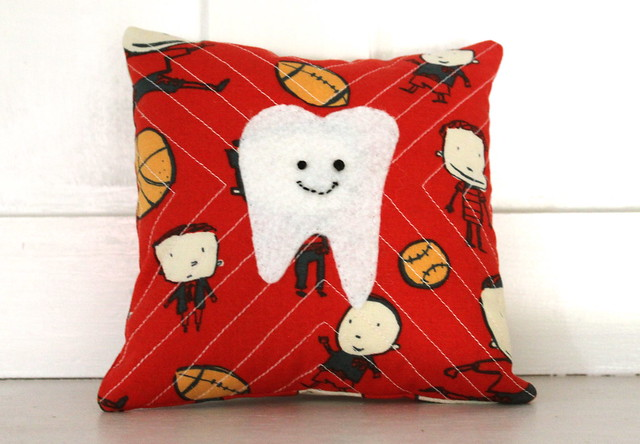 quilted tooth fairy pillow front