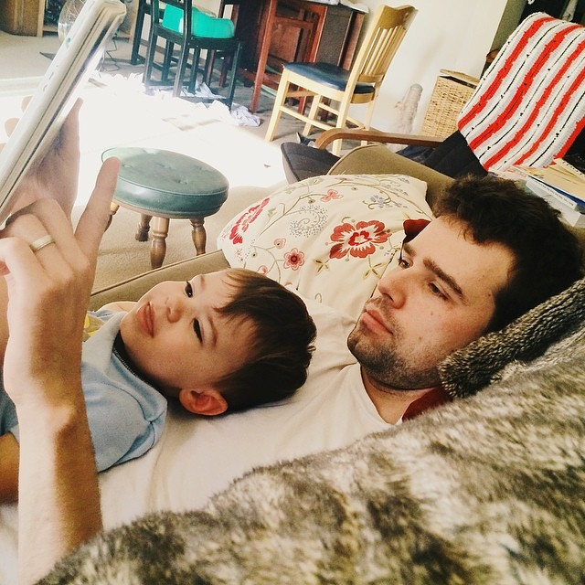 Sunday morning. #instaluther #toddler #children #reading #fatherhood