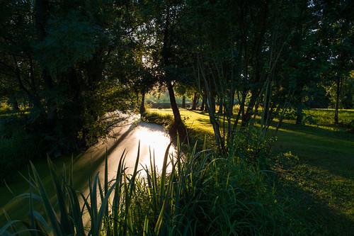sunset france river evening europe indre indrevalley