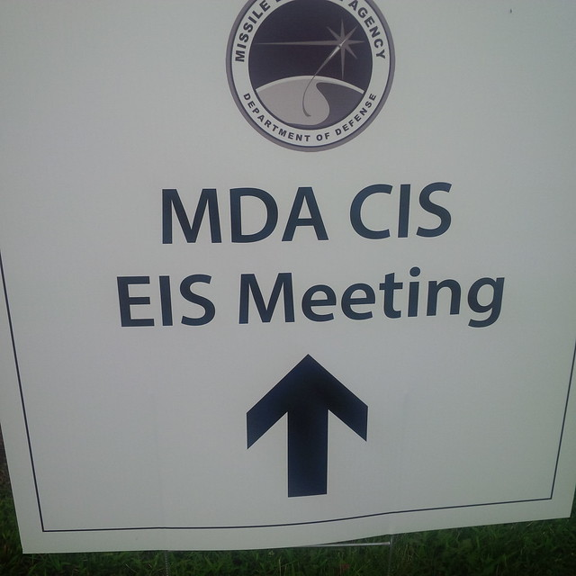 MDA CIS EIS meeting sign