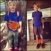First day of kindergarten v. first day of sixth grade. This seems like yesterday!