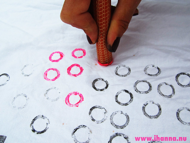 Stamping Patterns with Found Objects