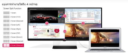 LG Monitor 32UM65 - split 4 screens