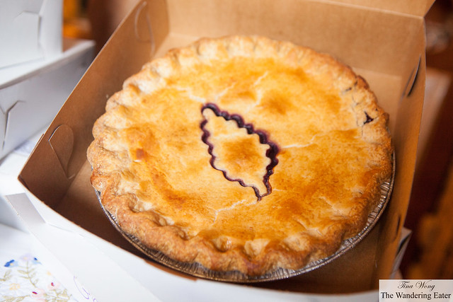 Cindy Trzeciak's signature (Concord) Grape pie