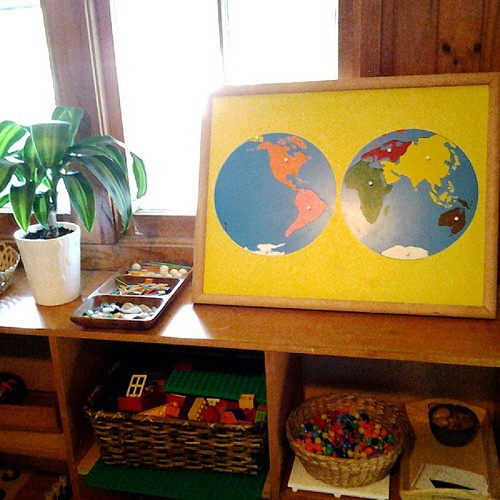 Montessori Homeschool Classroom (Photo from Racheous)