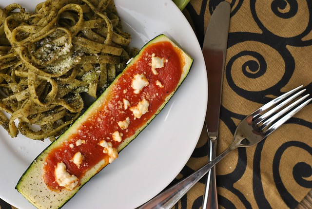 Goat Cheese and Marinara-Stuffed Zucchini 2