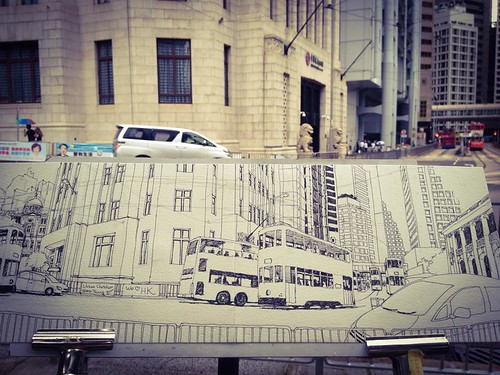 Sketching Tram in Central