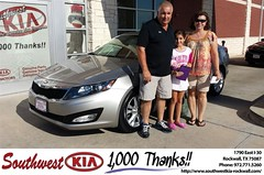 #HappyAnniversary to Robert Burney on your 2013 #Kia #Optima from Mauricio Pena at Southwest KIA Rockwall!