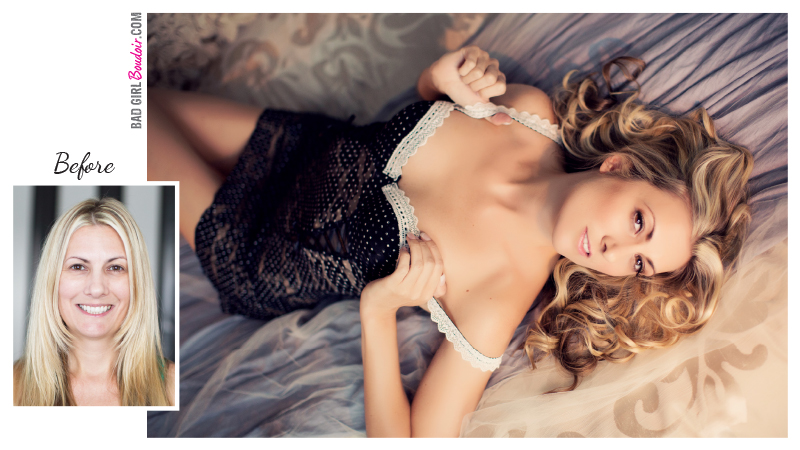 Boudoir Before and After Jacksonville Photographer