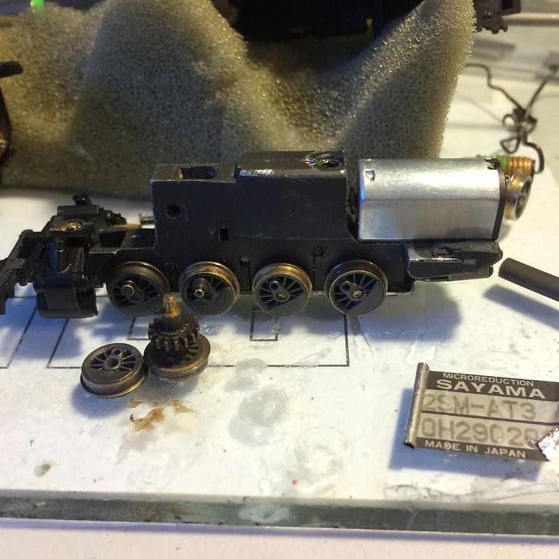 Turned flanges, blackened wheels, new motor.