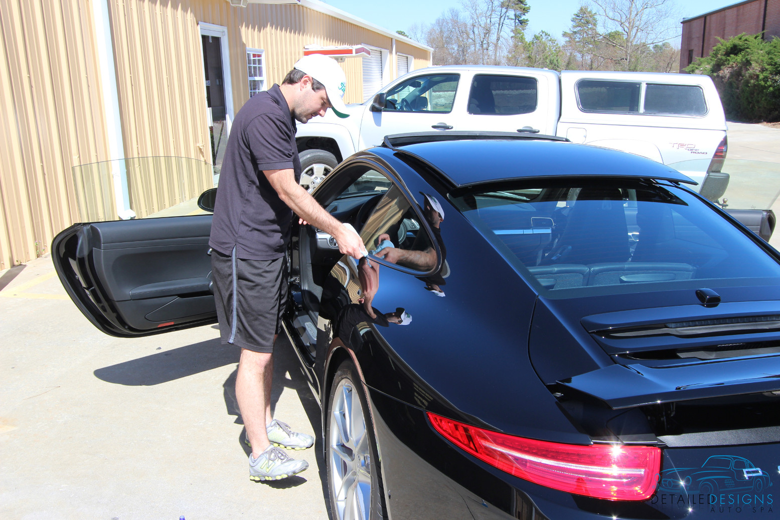 Porsche exterior car care Atlanta