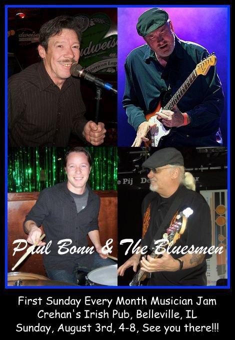 Paul Bonn & The Bluesmen 8-3-14