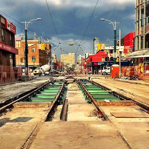 Chinatown's #TTC Grand Union reconstruction.  #igerstoronto
