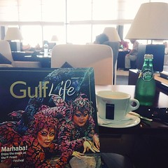 Lounging. Before boarding. #GulfAir