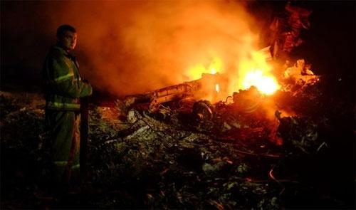 Máy bay Malaysia rơi ở Ukraine