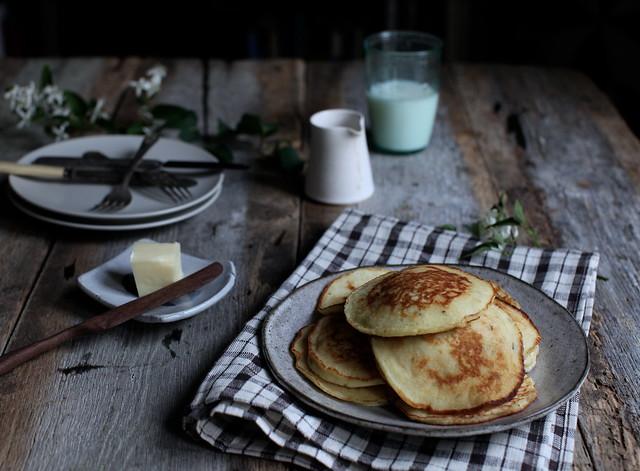 Lemon + Rosemary Ricotta Pancakes