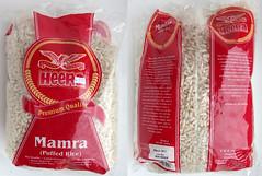 Gepofte rijst onder suiker