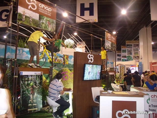 Bohol Exhibit Booth with air bike