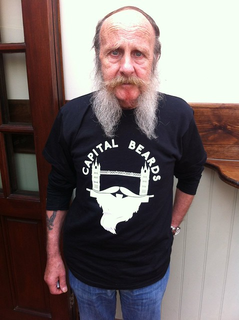 George modelling a Capital Beards t-shirt