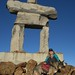 CATHY AND MINDY AND INUKSHUK, WHISTLER by EYZWIDESHUT