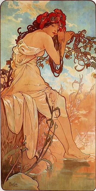 Les Quatre Saisons - Été (Summer) by Alfons Mucha (1896)