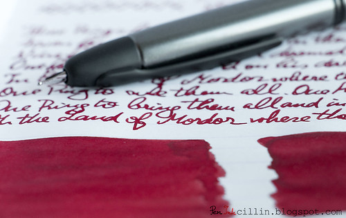 Diamine Red Dragon handwriting