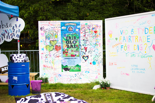 Ben and Jerry's stand at Way Out West