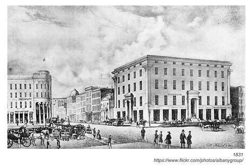 "state & broadway 1831  ""The Museum"" & ""The Exchange""  albany ny"