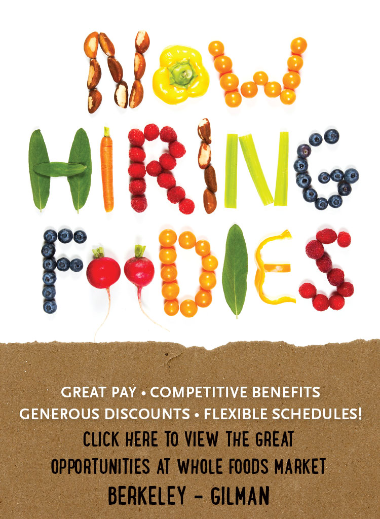 Jobs at Whole Foods Market Berkeley - Gilman
