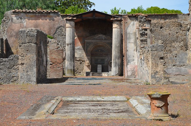 The atrium of the House of the Large Fountain, Pompeii