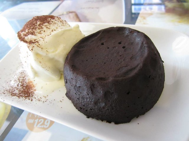 Noodle House chocolate lava cake 1