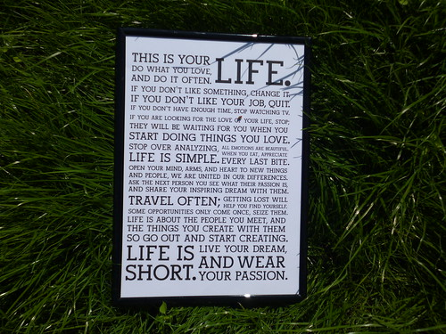 38. Find a personally inspirational quote and work it into a piece of art or home decor