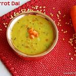 Carrot dal fry